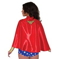 DC Comics Wonder Woman Costume Cape Adult One Size - Red