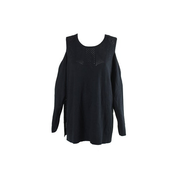 518b7426343c13 Shop Jessica Simpson Plus Size Black Cold-Shoulder Top 2X - Free ...