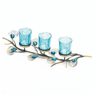Innovative Peacock Inspired Candle Trio