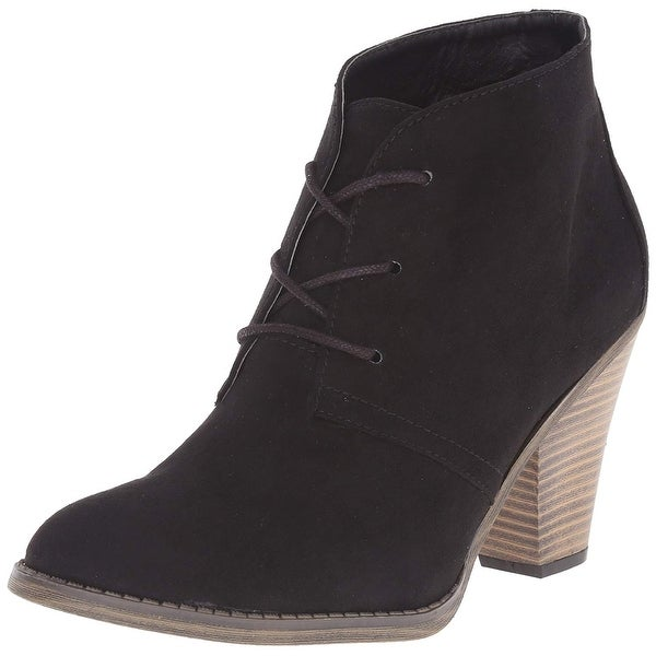 MIA Womens Shawna Closed Toe Ankle Fashion Boots