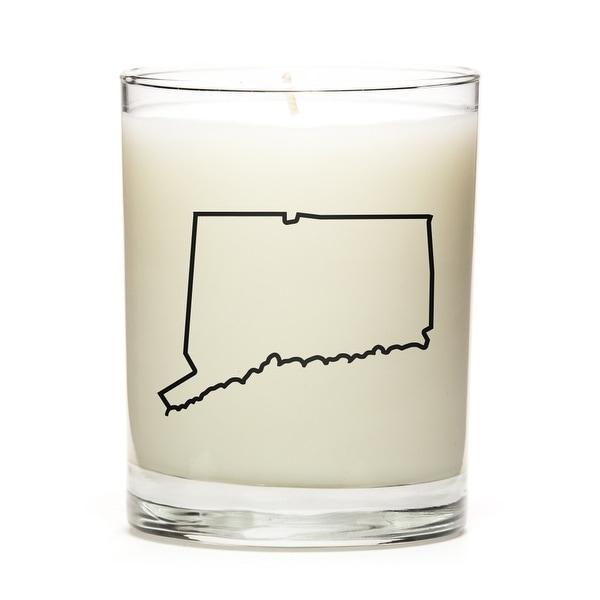 Custom Candles with the Map Outline Conneticut, Apple Cinnamon