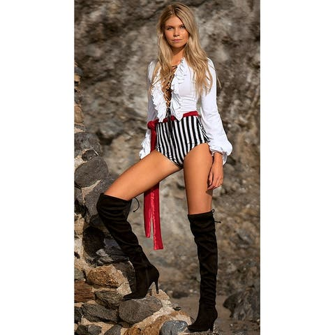 Naughty Pirate Scoundrel Costume, Hoty Pirate Costume - As Shown