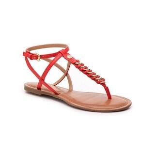 Tommy Hilfiger Womens Lynne2 Split Toe Casual T-Strap Sandals