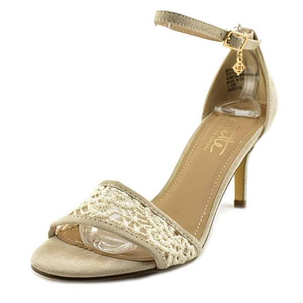 Nanette Lepore BEAUTY Women Open Toe Canvas Ivory Sandals