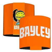 Bayley Orange White Elastic Wrist Cuff