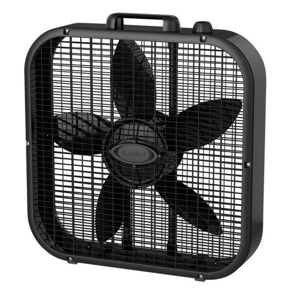 """Lasko B20401 3-Speed Box Fan, Black, 20"""""""