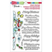 """Snowman Wishes - Stampendous Perfectly Clear Stamps 4""""X6"""""""