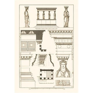 Buy Enlarge Porch of the Caryatids- Canvas Size C12X18