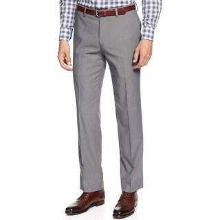 Bar III Tech Slim Fit Stretch Flat Front Dress Pants Mid Grey 38 x 30