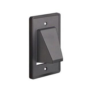 Monoprice Reversible 1-Gang Low Voltage Scoop Wall Plate, Black