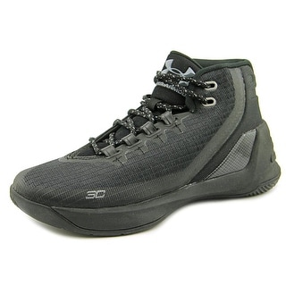 Under Armour GS Curry 3 Youth Round Toe Synthetic Black Basketball Shoe