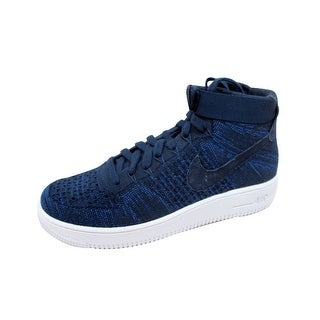 7dcf0fb41548c Shop Nike Men s Air Force 1 Ultra Flyknit Mid College Navy College Navy  817420-401 - Free Shipping Today - Overstock - 20129375