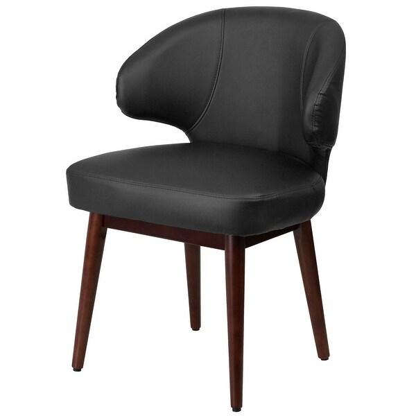 """Qvc Fanna Leather Accent Chair: Shop Delacora FF-BT-1 23.5"""" Wide Leather Accent Chair"""