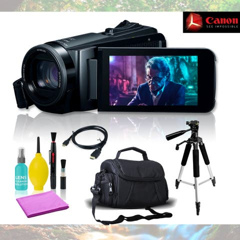 Canon Vixia HF W10 Camcorder with 5 Piece Accessories Basic Bundle