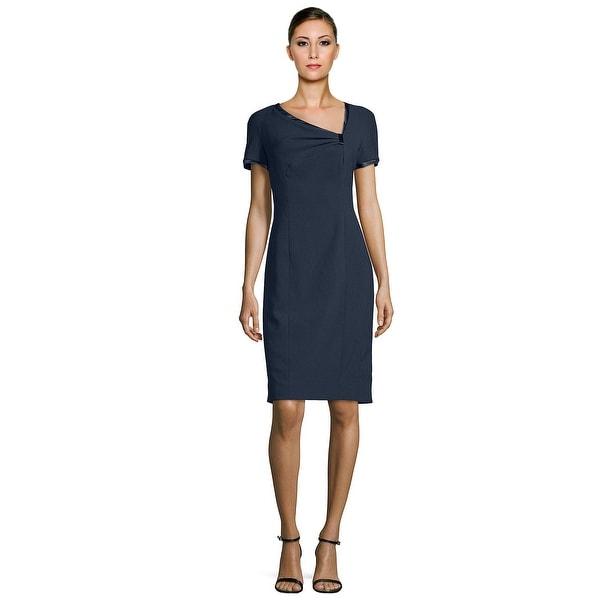 Rene Ruiz Asymmetric Short Sleeve Cocktail Day Dress