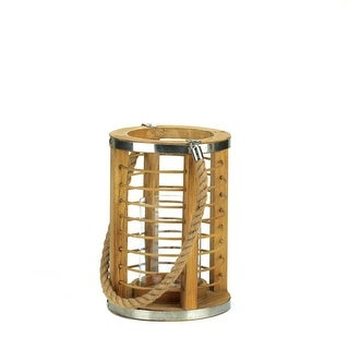 Wooden Strand Candle Lantern