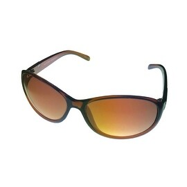 Ellen Tracy Womens Sunglass 507 1 Caramel Fashion Oval Plastic, Brown Gradient Lens