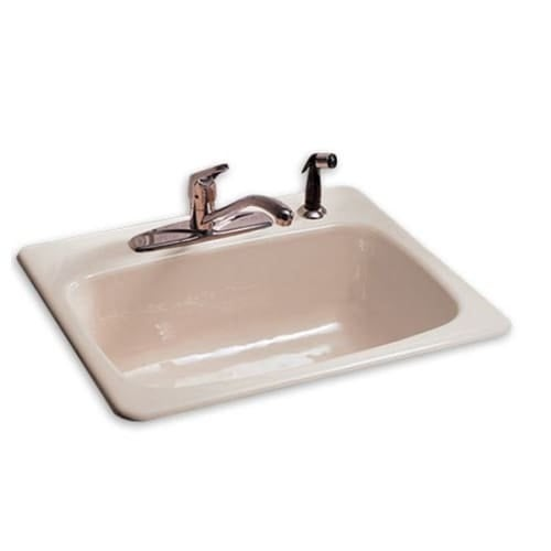 american standard 7072 804 drop in single bowl cast iron kitchen sink with 8   centers and american standard 7072 804 drop in single bowl cast iron kitchen      rh   overstock com