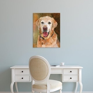 Easy Art Prints Edie Fagan's 'Rex Golden Retriever' Premium Canvas Art