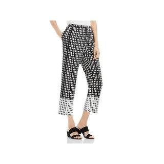 Vince Camuto Womens Cropped Pants Printed Wide Leg