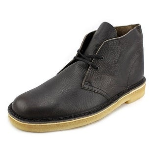 Clarks Originals Desert Boot Men  Round Toe Leather Black Chukka Boot