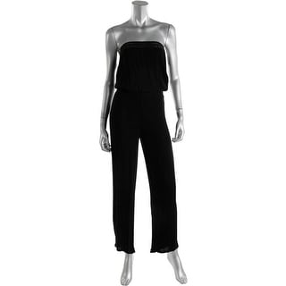 Surf Gypsy Womens Gauze Crochet Trim Jumpsuit