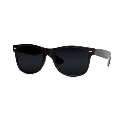 Blues Brothers horn-rimmed Dark Black Sun Glasses - Black - One size