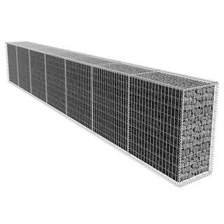 vidaXL Gabion Wall with Cover 19.7'x1.6'x3.3'