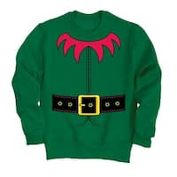 Elf Suit-Adult Crew Fleece - Green