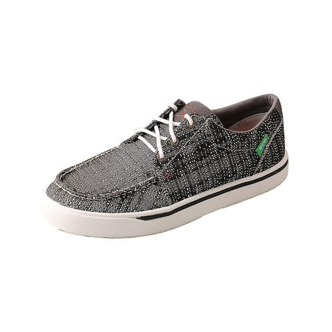 Twisted X Casual Shoes Mens Textile Lace Kicks Dark Gray