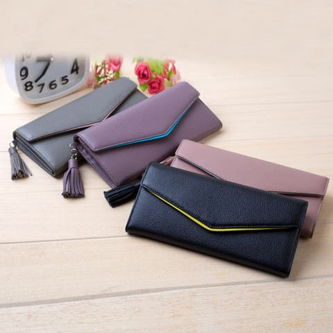 Women's Wallet Two Large Capacity Mobile Phone Bag Genuine Leather