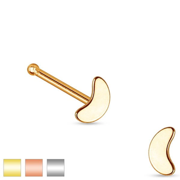 Crescent Top 316L Surgical Steel Nose Stud (Sold Individually)