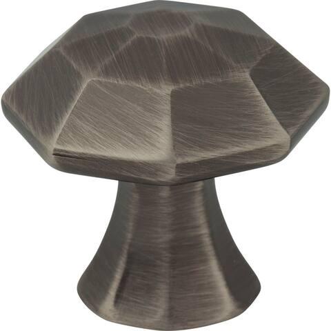 "Jeffrey Alexander 678 Wheeler 1-1/4"" Geometric Cabinet Knob"