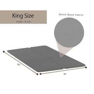Onetan Split Fully Assembled Bunkie Board For Mattress/Bed Support