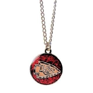 Cleanlapsports Kansas City Chiefs Glitter Necklace