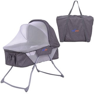 SafePlus Lightweight Foldable Baby Bassinet Rocking Bed Canopy Mosquito Net Carrying Bag