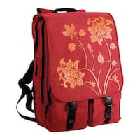 Laurex Women's Laptop Backpack Red Blossom/Red - US Women's One Size (Size None)