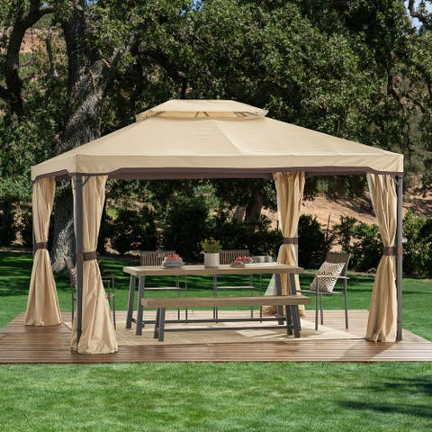 Skyline Outdoor Outdoor 10' x 12' Gazebo with Water Resistant Canopy by Christopher Knight Home