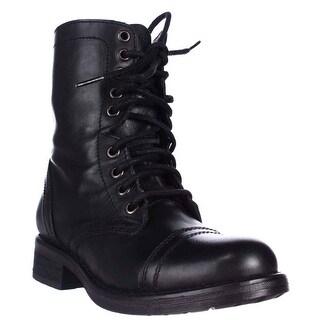 Steve Madden Tropa2 Combat Boots - Black