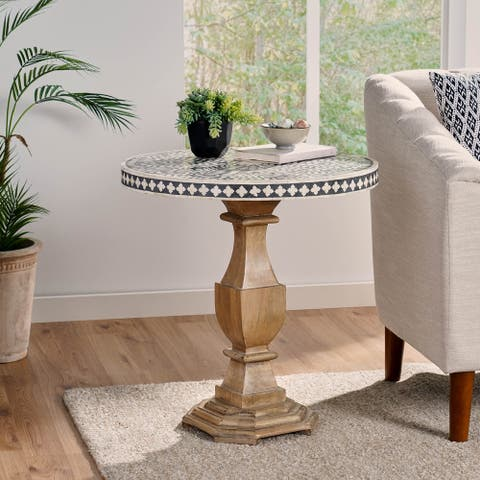 Hilliard Boho Handcrafted Mango Wood Side Table by Christopher Knight Home
