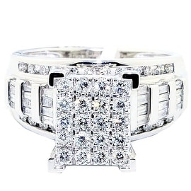 1cttw Diamond Wedding Ring 3 in 1 Style Engagement & Bands White Gold By MidwestJewellery