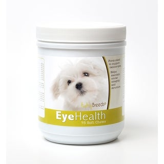 Healthy Breeds Maltese Dog Eye Care Support Soft Chews 75 Count
