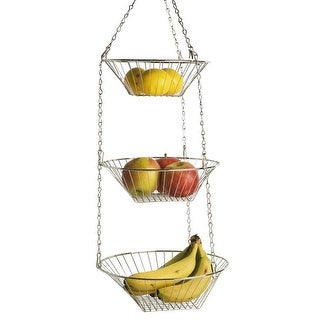 Home Basics Hanging Basket, 3-Tier, Round - N/A - N/A