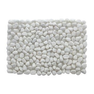 """Darice Pebble Stone Mat 12x8"""" White"""