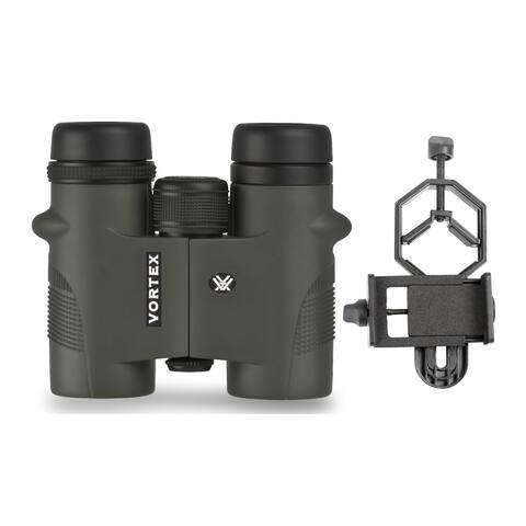 Vortex Diamondback 8x32 Binoculars with Smartphone Adapter Bundle