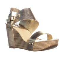 Lucky Brand Marleighh Ankle Strap Wedge Sandals, Platinum - 8.5 us / 38.5 eu