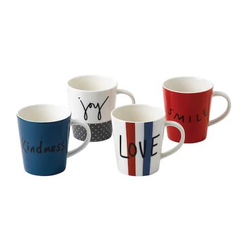 Joy Mug 16.5 Oz Set/4 Mixed