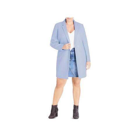 City Chic Womens Plus Coat Winter Mid-Length