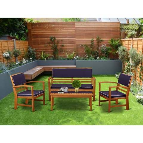BCOSSNA 4pc Set offers a Bench and 2 Arm Chairs plus a Small Table