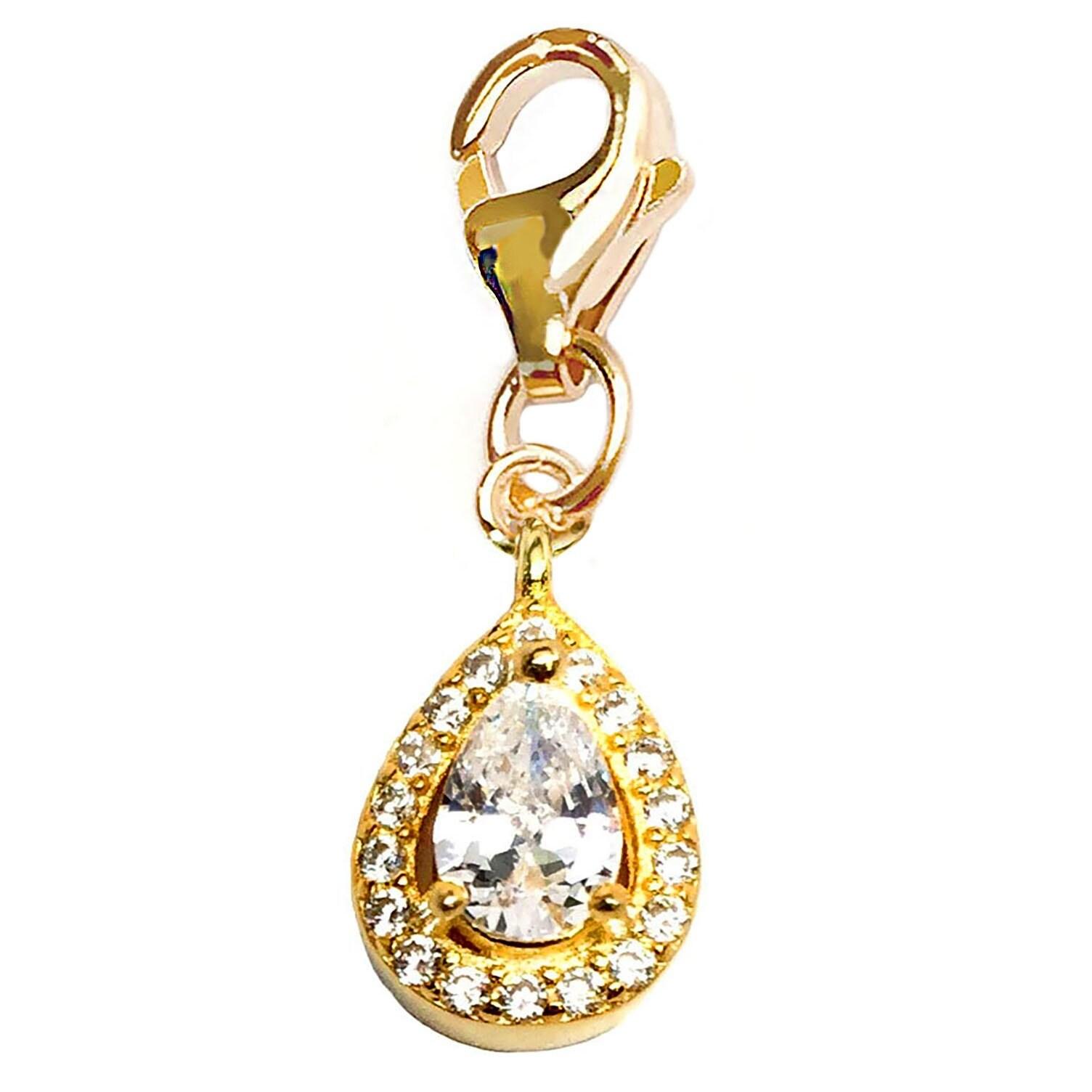 Julieta Jewelry Teardrop Clip-On Charm - Thumbnail 0
